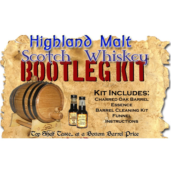 Highland Malt Scotch Whiskey Barrel Making Kit