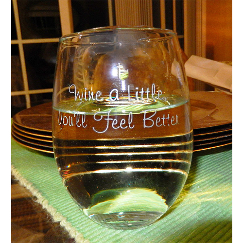Wine A Little Stemless Wine Glasses (set of 4)