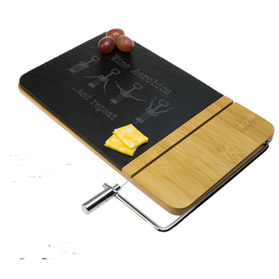 Wine Aerobics Cheese Board with Slicer