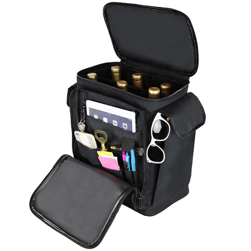 Deluxe Wine Backpack for 6 Bottles Travel
