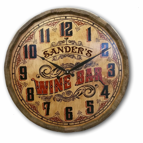 Personalized Wine Bar Quarter Barrel Wall Clock