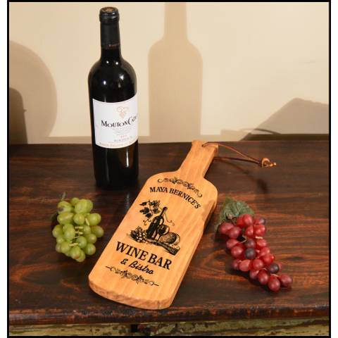 Personalized Wine Bar Bottle Shaped Server