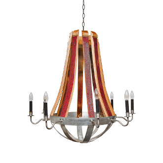 Wine Barrel Stave Chandelier