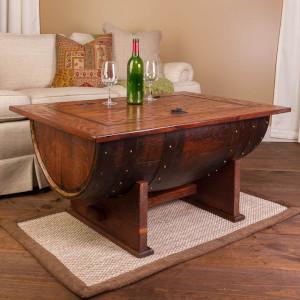 Reclaimed Wine Barrel Coffee Table