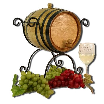 5 Liter Barrel with Wrought Iron Stand