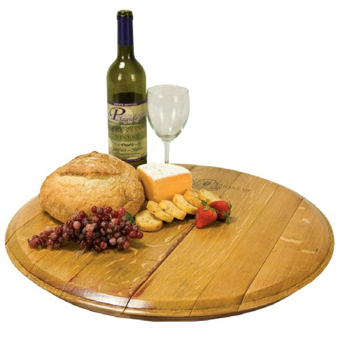Cooperage Wine Barrel Top Lazy Susan