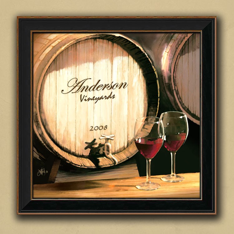 Fine Wine Personalized Canvas Art