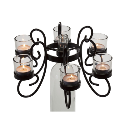 Wine Bottle Tealight Candelabra Reserva