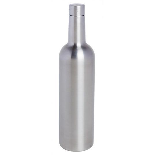 Triple Wall Wine Bottle Flask, Stainless Steel