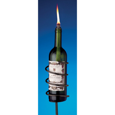 Oenophilia Afterglow Garden Stake with Wick, Black