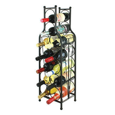 Wine Bottle Matrix, Wine Bottle Shaped Wine Rack