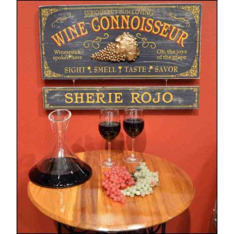 Wine Connoisseur Personalized Wall Decor