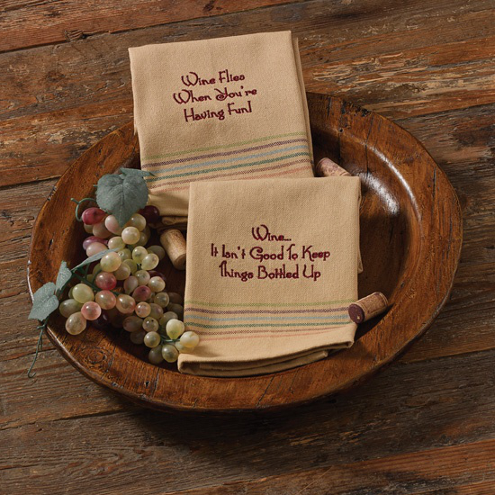 Keep Things Bottled Up Embroidered Dishtowels (set of 2)