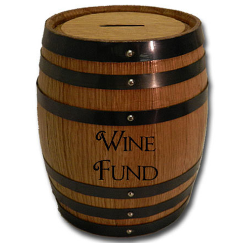 Wine Fund Mini Oak Barrel Bank