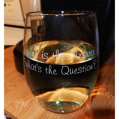 Wine Is the Answer Stemless Wine Glasses (set of 4)