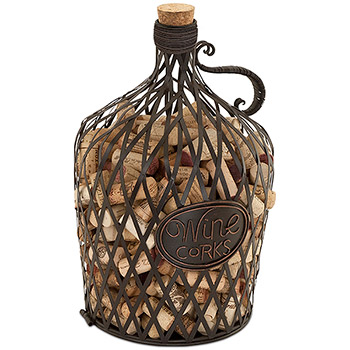 The Original Cork Cage Vintage Wine Jug Cork Cage