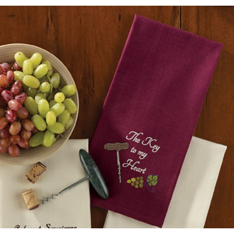 The Key To My Heart Dishtowel