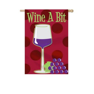 Wine A Bit EverOptics Garden Flag