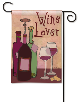 Wine Lover Garden Flag