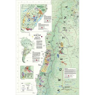 Delong's Wine Map of South America