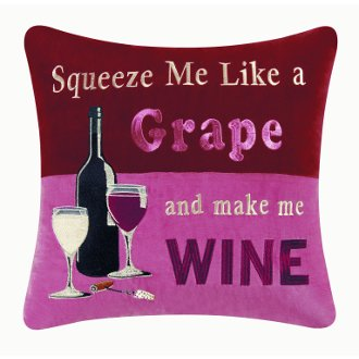 Squeeze Me Like A Grape Pillow