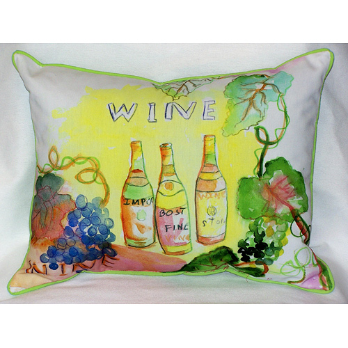 Wine Bottles Outdoor Pillow