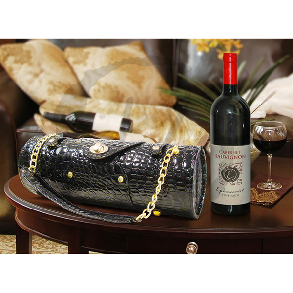 Designer Wine Purse for One Bottle