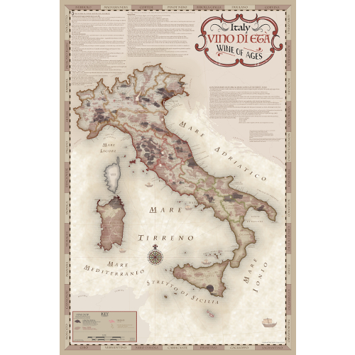 Vino di Eta Wine Regions of Italy Map