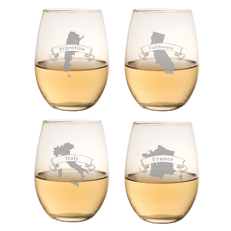 Wine Regions White Wine Tumblers (set of 4)