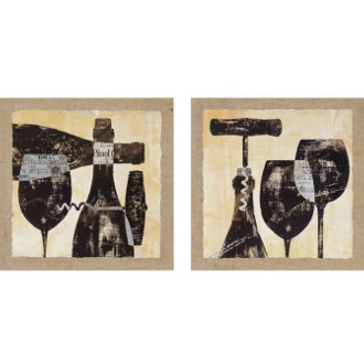 Wine Selection Framed Wall Art (set of 2)