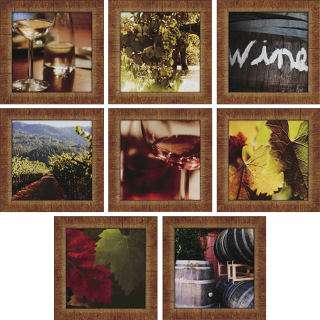 Wine Study Art (set of 8)