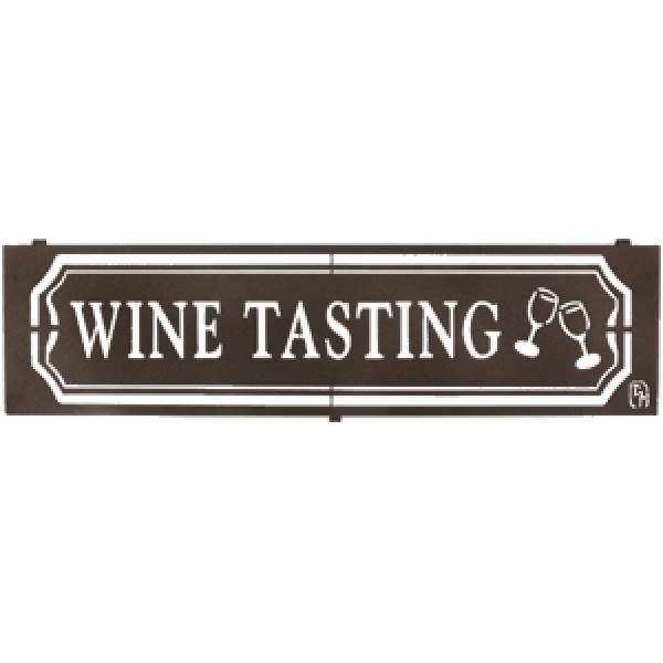 Metal Wine Tasting Sign