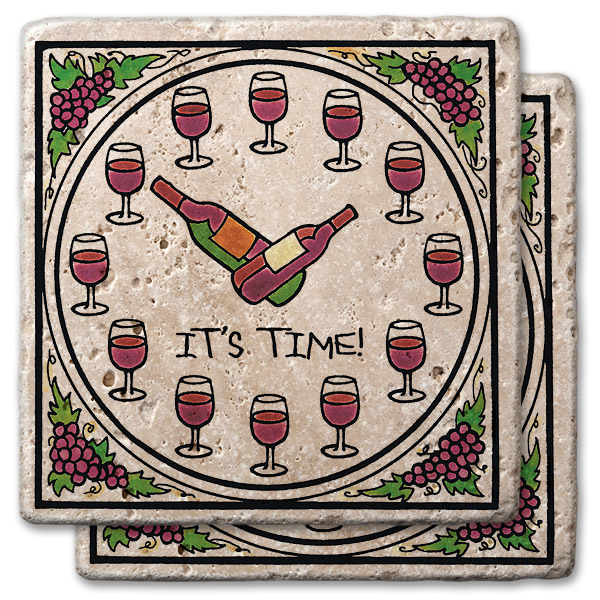 Wine Time Stone Coasters (set of 2)