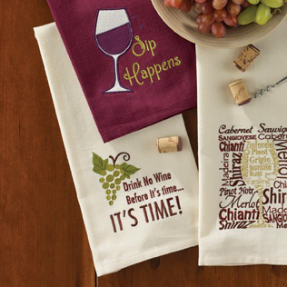 No Wine Before Its Time Dishtowel