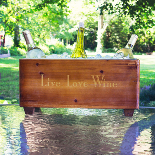 Wooden Personalized Wine & Beverage Trough Cooler