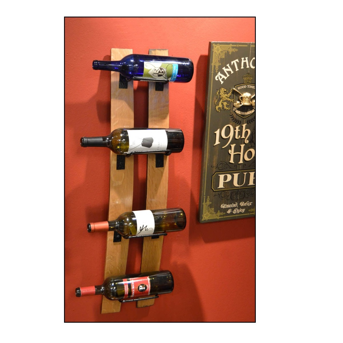 Two Stave Wine Bottle Rack