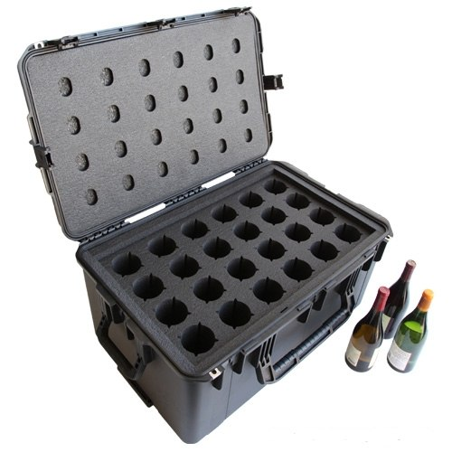 WineCruzer 24 Pack Pro Wine Carrier with Wheels