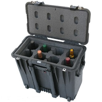 Classic 8 Bottle Wine Suitcase With Wheels