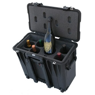 Decanter 5 Pack Wine Suitcase With Wheels