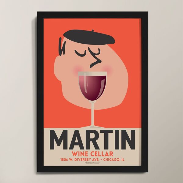 Wine Mouth Personalized Art