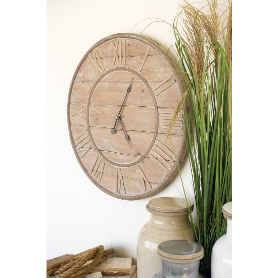 Wooden Slat Clock
