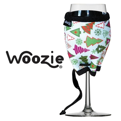 Holiday Trees Wine Glass Woozie