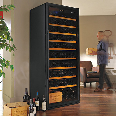 Wine Enthusiast Classic XL 300 Wine Cellar (Black)