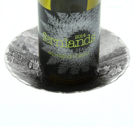 Vineyard Round Wine Bottle Coaster