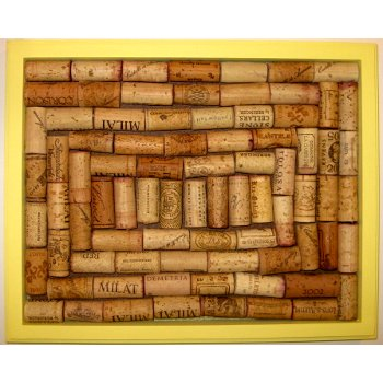 Bright Yellow Wine Cork Board