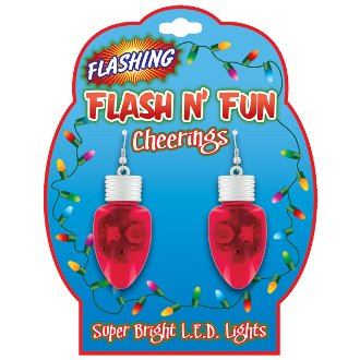 Flashing Holiday Earrings