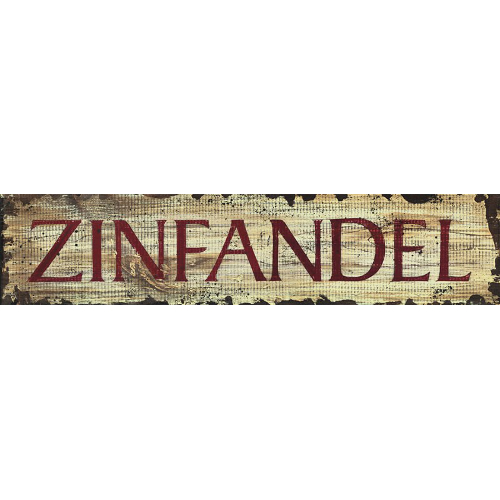 Personalized Zinfandel Wine Sign