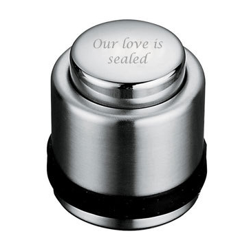 Engraved Classic Wine Bottle Cap Stopper