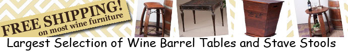 Free Shipping on Most Wine Barrel Stools!
