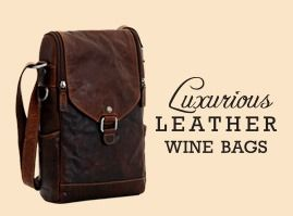 Luxurious Leather Wine Bags